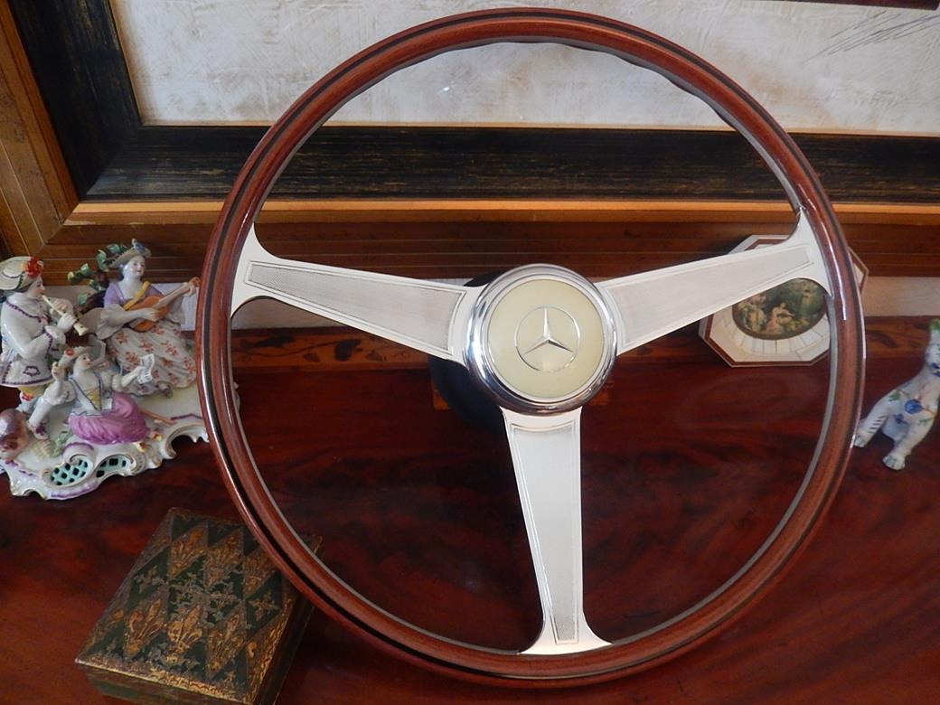 157 mercedes steering wheel sold for Mercedes benz wood steering wheel