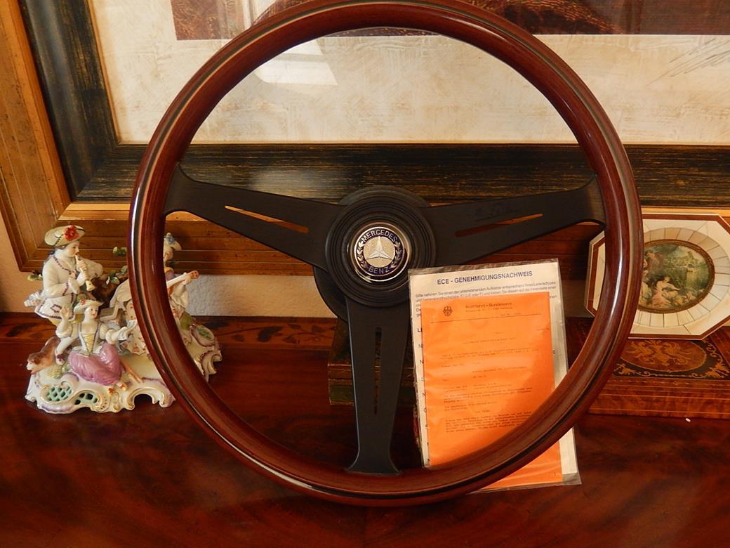 Mercedes r107 380 sl nardi wood steering wheel stronger for Mercedes benz wood steering wheel