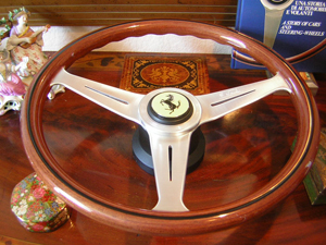 ferrari wood steering wheel