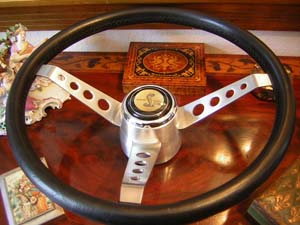 shelby leather steering wheel
