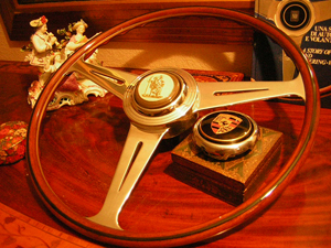 Porsche 356 pre A Nardi Wood Steering Wheel 54 ex Lee Leston