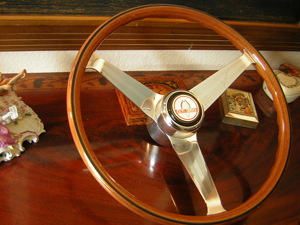 Shelby Nardi Wood Steering Wheel Engraved Spokes 1966
