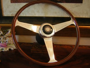 "Original Nardi Wood Steering Wheel 42cm - 16.54"" For Mercedes Benz W111 280 SE 3.5 - 1968 - 1972"