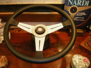New Nardi leather rim steering wheel Nardi horn button With Mercedes emblem