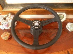 Mercedes W107 450 SL SLC 80 89 Nardi Leather Steering Wheel 15.3