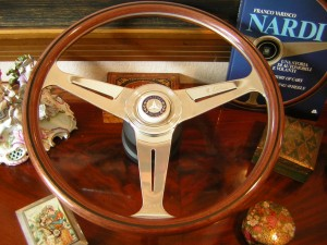Original Nardi Wood Steering Wheel for Mercedes Benz W107 350SL 450SL