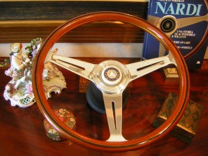 Original Nardi Wood Steering Wheel for Mercedes W107 450SL 560SL 1980 to 1989