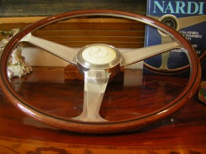 Nardi Wood steering wheel Mercedes 190SL 190 SL engraved spokes