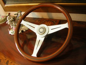 Nardi Personal Wood Steering Wheel With Rare Original Mercedes 190 SL Hub