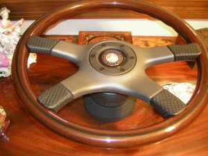 Original Nardi Wood Steering Wheel with Original NOS Hub for Mercedes Benz W107 1980 to 1989 350SLC 450SL 450SLC 500SL 560SL