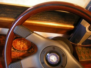 Original Nardi Wood Steering Wheel With Original NOS Hub for Mercedes Benz W126 560 SEC From 1985 to 1991