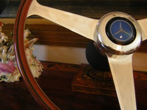 "Original New Nardi Wood Steering Wheel 42cm - 16.54"" Width for Mercedes W111 280 SE 3.5 - 1968 - 1972"