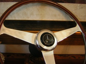 Original Nardi Wood Steering Wheel for Mercedes Benz W111 280 SE 3.5 1968 1972